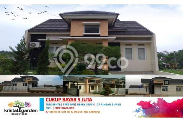 Rumah Cluster Luas dan Nyaman Kristal Garden Cibinong |FREE KPR, BPHTB DLL 14417784