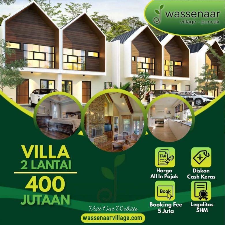 Jual Villa Harga 400 Jt-an Berkabut Di Ketinggian 1035 Mdpl