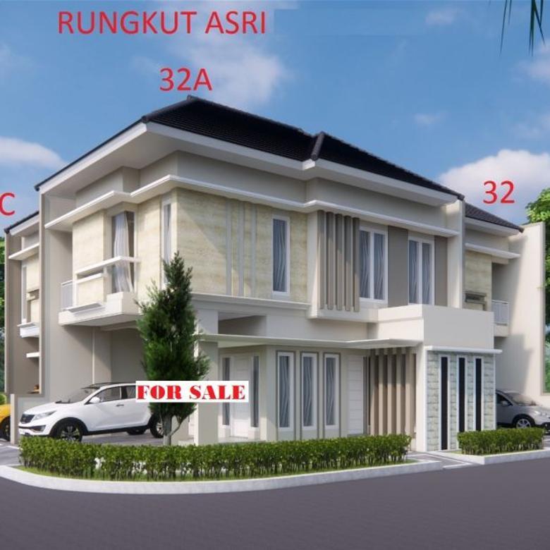 Rumah Hook Pojok Bangunan Baru Gress 2lantai Di Rungkut Asri