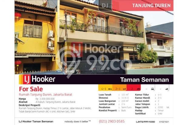 Rumah Tanjung Duren, Jakarta Barat, Brand New, 11x11m, 2½ Lt 6781100