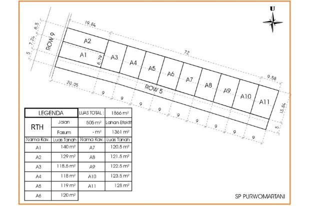 Rp444jt Tanah Dijual