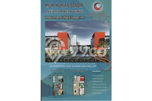 2 kamar cicilan hanya 1 jutaan, apartemen murah karawang 16105928