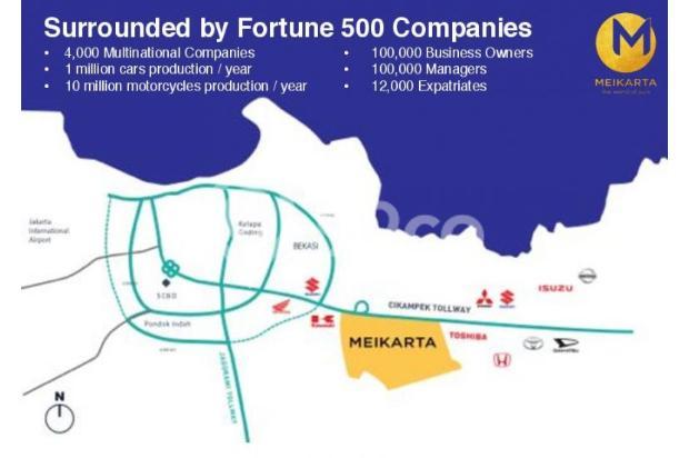 Dijual Apartemen 2BR Modern Nyaman Strategis di Meikarta Tower 1B Bekasi 13124169
