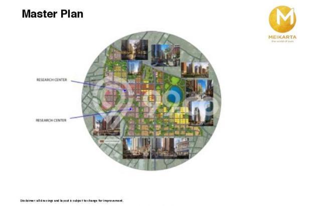 Dijual Apartemen 2BR Modern Nyaman Strategis di Meikarta Tower 1B Bekasi 13124173