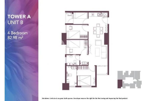Dijual Apartemen 2BR Modern Nyaman Strategis di Meikarta Tower 1B Bekasi 13124195