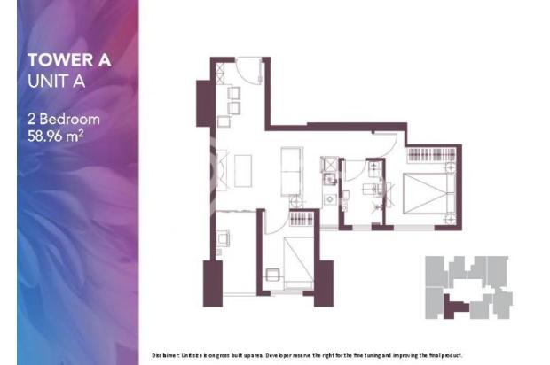 Dijual Apartemen 2BR Modern Nyaman Strategis di Meikarta Tower 1B Bekasi 13124194
