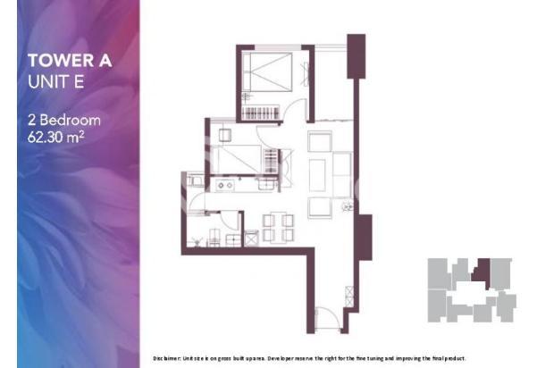 Dijual Apartemen 2BR Modern Nyaman Strategis di Meikarta Tower 1B Bekasi 13124199