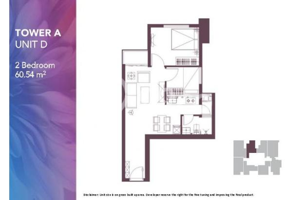 Dijual Apartemen 2BR Modern Nyaman Strategis di Meikarta Tower 1B Bekasi 13124198