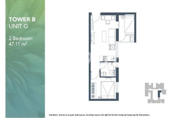 Dijual Apartemen 2BR Modern Nyaman Strategis di Meikarta Tower 1B Bekasi 13124203