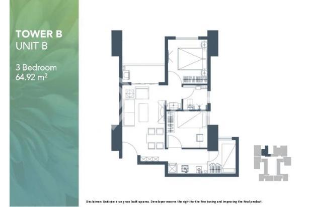 Dijual Apartemen 2BR Modern Nyaman Strategis di Meikarta Tower 1B Bekasi 13124207