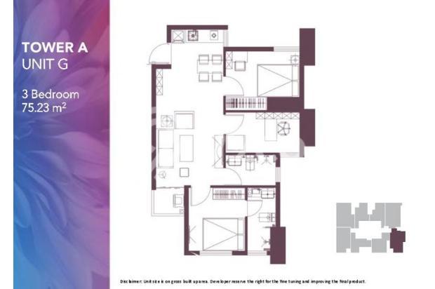 Dijual Apartemen 2BR Modern Nyaman Strategis di Meikarta Tower 1B Bekasi 13124209