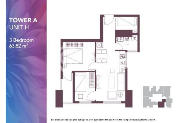 Dijual Apartemen 2BR Modern Nyaman Strategis di Meikarta Tower 1B Bekasi 13124212