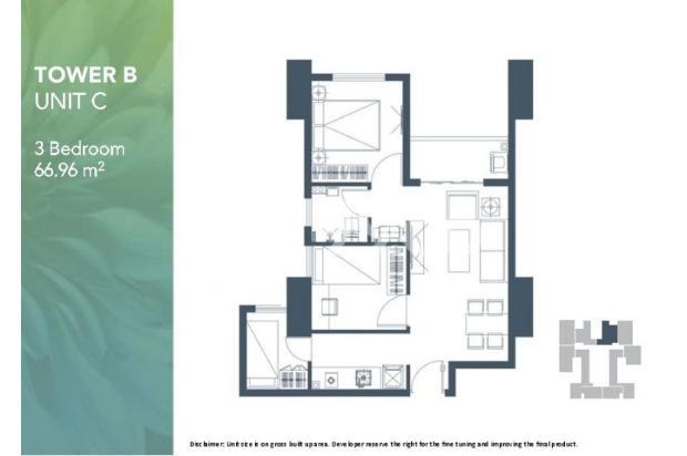 Dijual Apartemen 2BR Modern Nyaman Strategis di Meikarta Tower 1B Bekasi 13124210