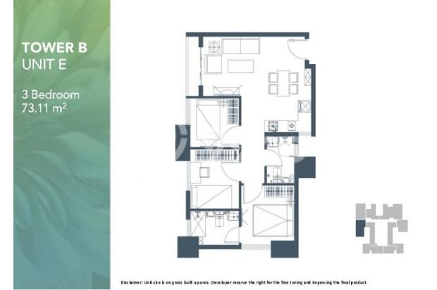 Dijual Apartemen 2BR Modern Nyaman Strategis di Meikarta Tower 1B Bekasi 13124213