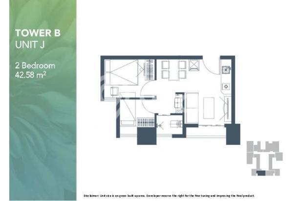 Dijual Apartemen 2BR Modern Nyaman Strategis di Meikarta Tower 1B Bekasi 13124215