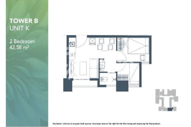 Dijual Apartemen 2BR Modern Nyaman Strategis di Meikarta Tower 1B Bekasi 13124216