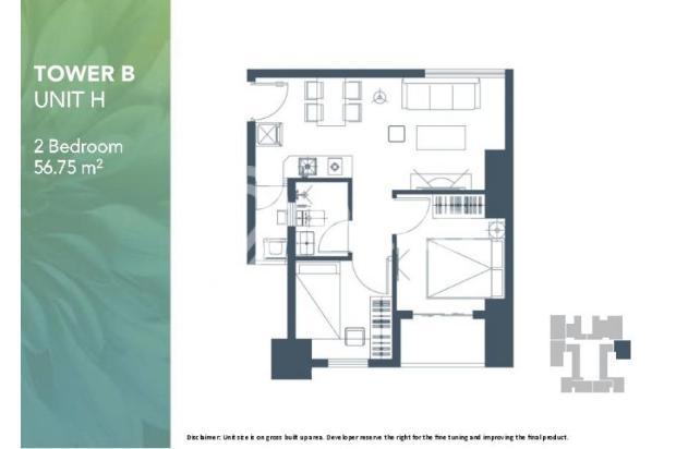 Dijual Apartemen 2BR Modern Nyaman Strategis di Meikarta Tower 1B Bekasi 13124220