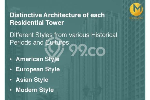 Dijual Apartemen 2BR Modern Nyaman Strategis di Meikarta Tower 1B Bekasi 13124223