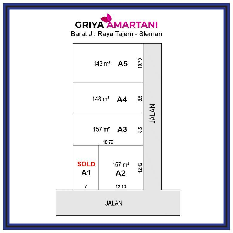 Kavling Griya Amartani ; Diskon 25%