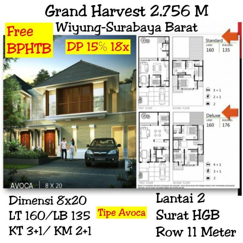 Rumah siap huni Grand Harvest  wiyung surabaya
