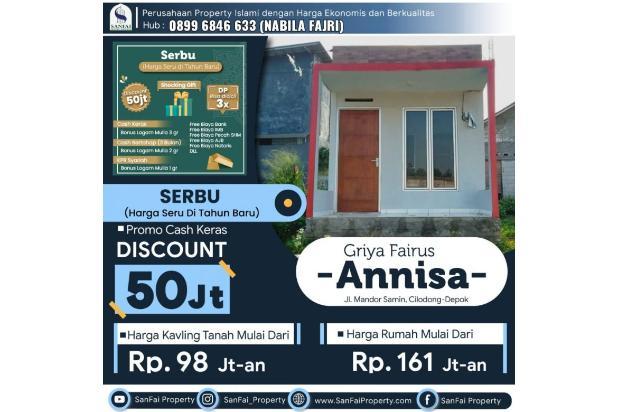 Rp161jt Rumah Dijual