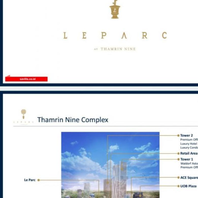 Dijual Luxury Apartement Le Parc Thamrin Nine Terraces Tower 4+1BR (260m2)