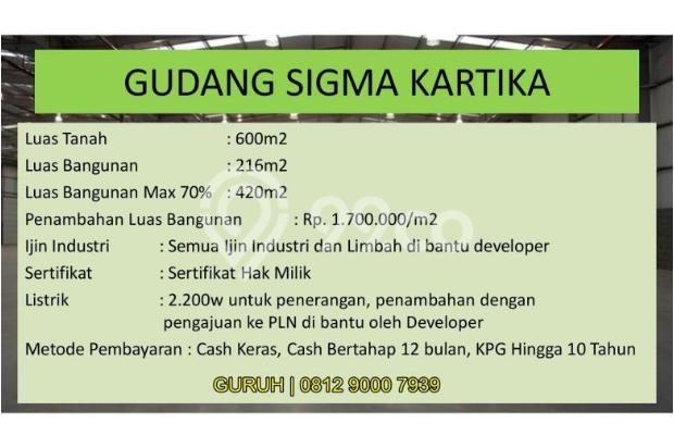 Gudang untuk Industri/Pabrik Makanan, Akses Mudah dekat BSD dan Bogor 9840770