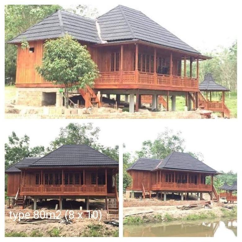 Rumah kayu modern knock down baca deskripsi