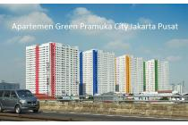 GREEN PRAMUKA TOWER MALL 2 BR FURNISHED TAHUNAN