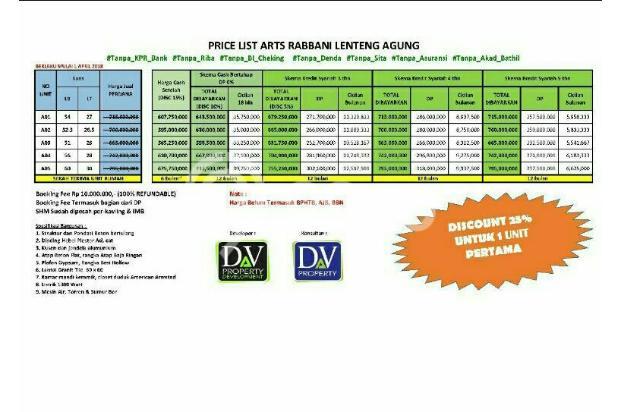 Pricelist Arts Rabbani Lenteng Agung Jakarta Selatan 17108065