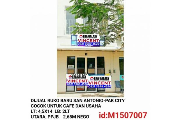 Dijual Ruko Baru San Antonio Pakuwon City 6154948