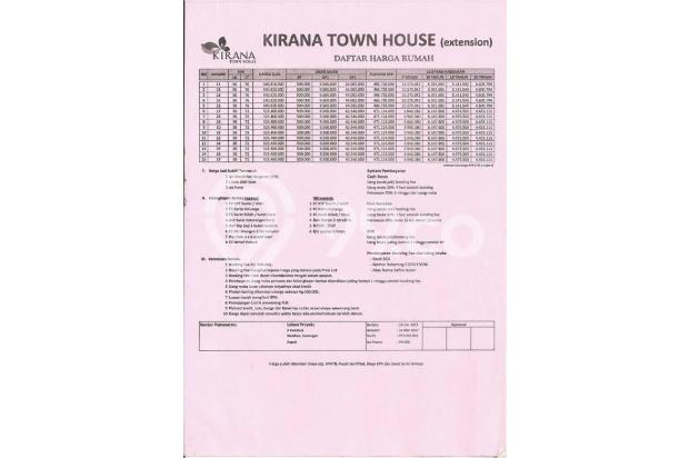 Rumah 1 Lantai di Kirana Town House Bonus Umroh* 16050162