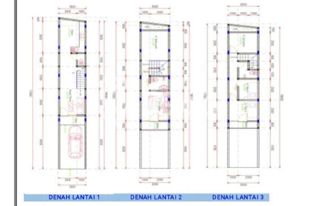 Launching Rumah baru 3 lantai dekat Jalan Panjang, Duri Kepa, Kebon Jeruk 15092369