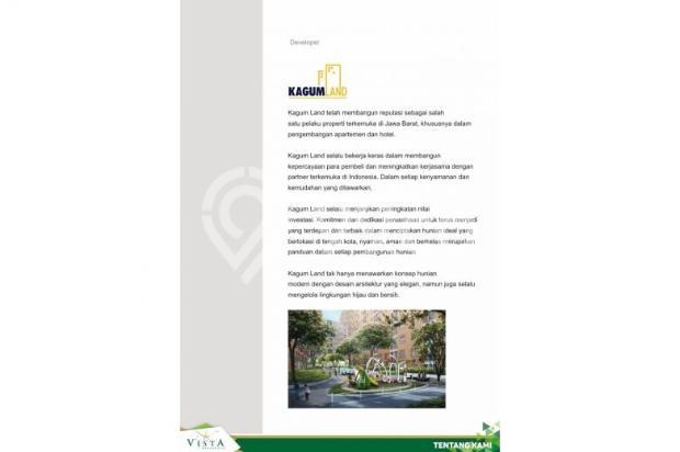 apartement 1 bedroom di buah batu, garden vista residence asri dan nyaman 7608823