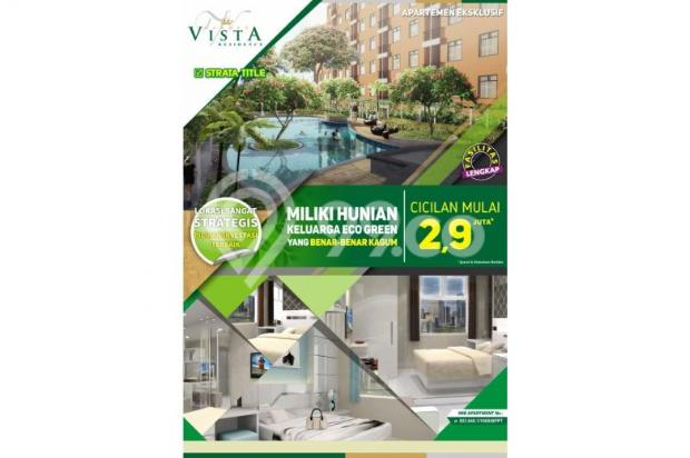 apartement 1 bedroom di buah batu, garden vista residence asri dan nyaman 7608826