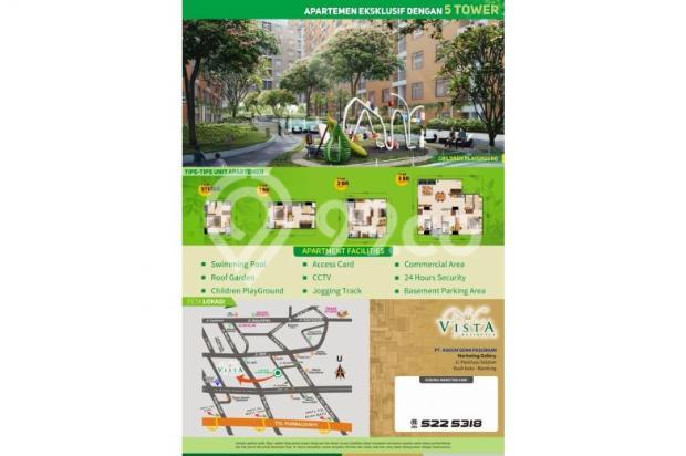 apartement 1 bedroom di buah batu, garden vista residence asri dan nyaman 7608827