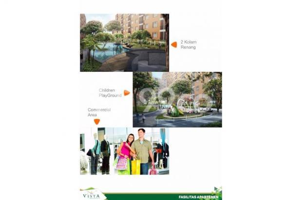 apartement 1 bedroom di buah batu, garden vista residence asri dan nyaman 7608840