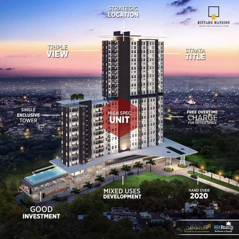 Apartemen Termurah Bintaro Mansion, Bayar 50% /Angs 2 Jutaan!