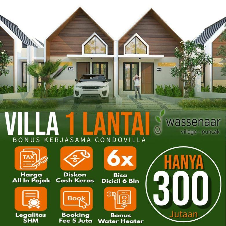 Villa Murah Lokasi Cipanas Udara Sejuk Diselimuti Kabut