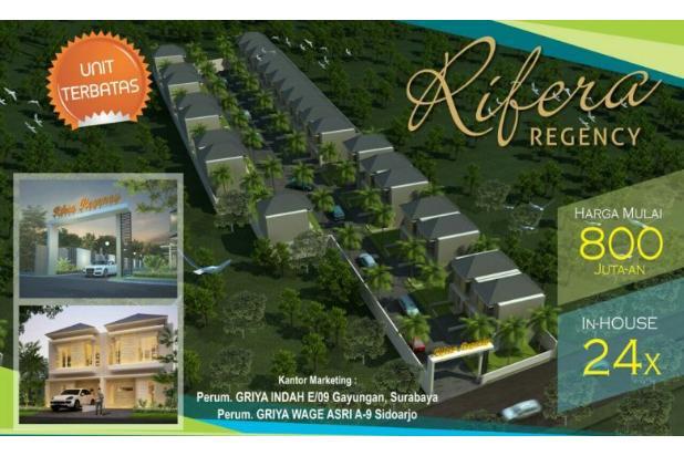 Rumah 2 lantai Rifera Regency dekat Taman Pinang Sidoarjo kota 800 jt an 14365311