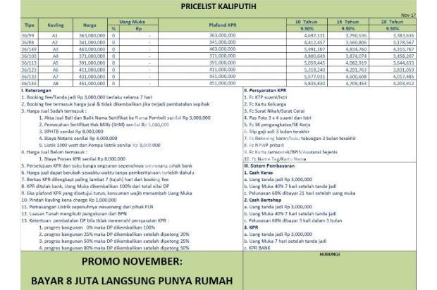Jual Rumah KPR DP 8 JUTA di Depok, Janji Kami Nyata Terbukti 14438106