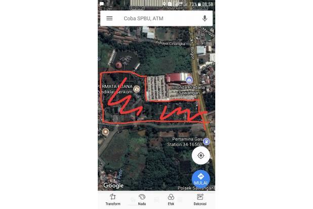 Tanah strategis pinggi jalan raya provinsi parung ciputat 17795182