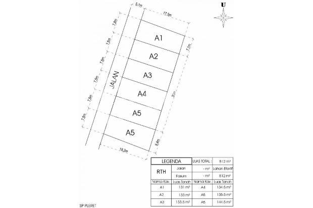Siteplan Rapi Lebar Jalan 5 Meter, Cash Tempo 12X Tanpa Bunga 16049909