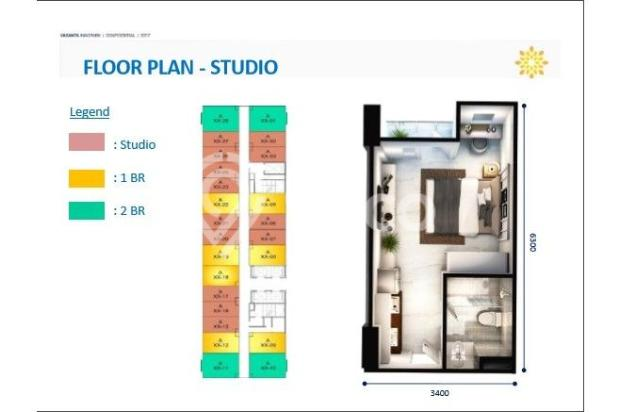 Tipe Studio Apartemen Vasanta Innopark Bekasi 13011957