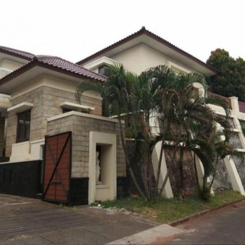Semi Furnish, Rumah Mewah Lahan Luas di Maleo Bintaro