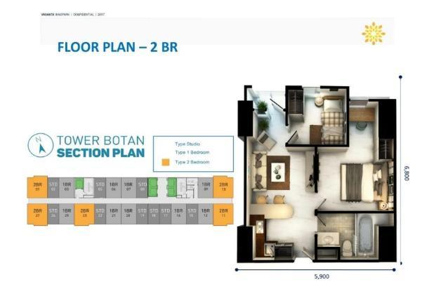 Rp602jt Apartemen Dijual