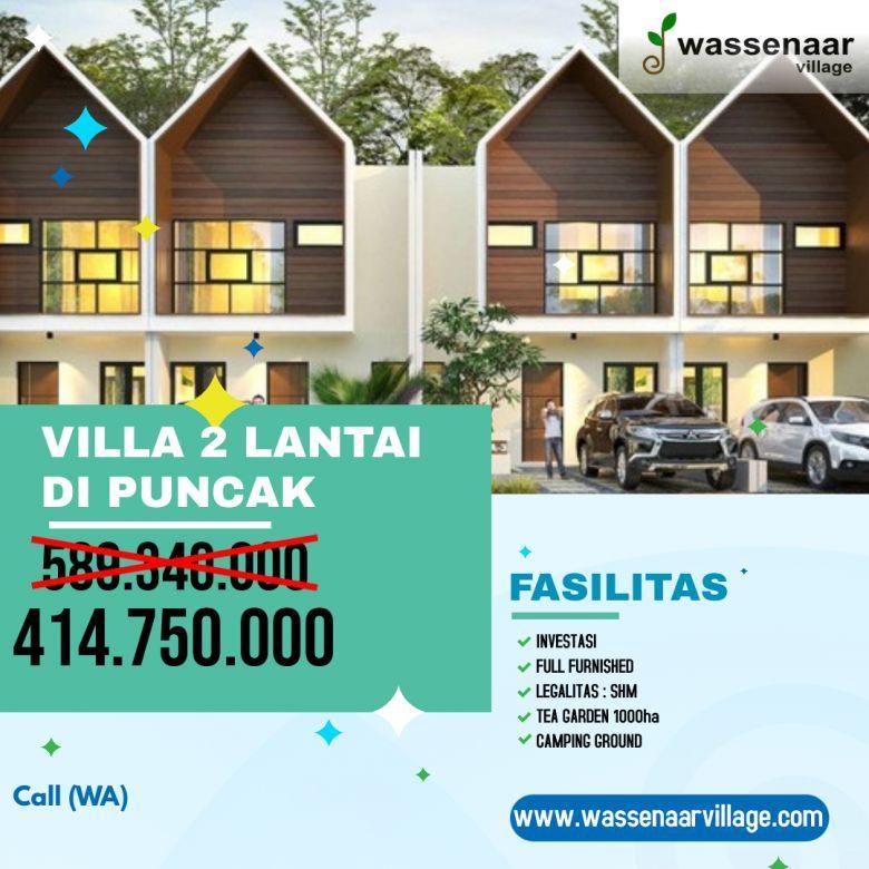 Villa Baru 2 Lantai Investasi Properti Kekinian di Puncak