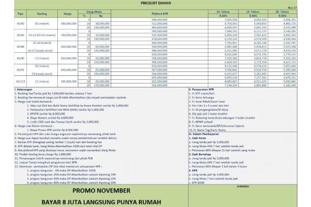 Miliki Rumah KPR Uang Muka 8 JUTA, Lokasi Dekat Sekolah Alam Depok 14316909