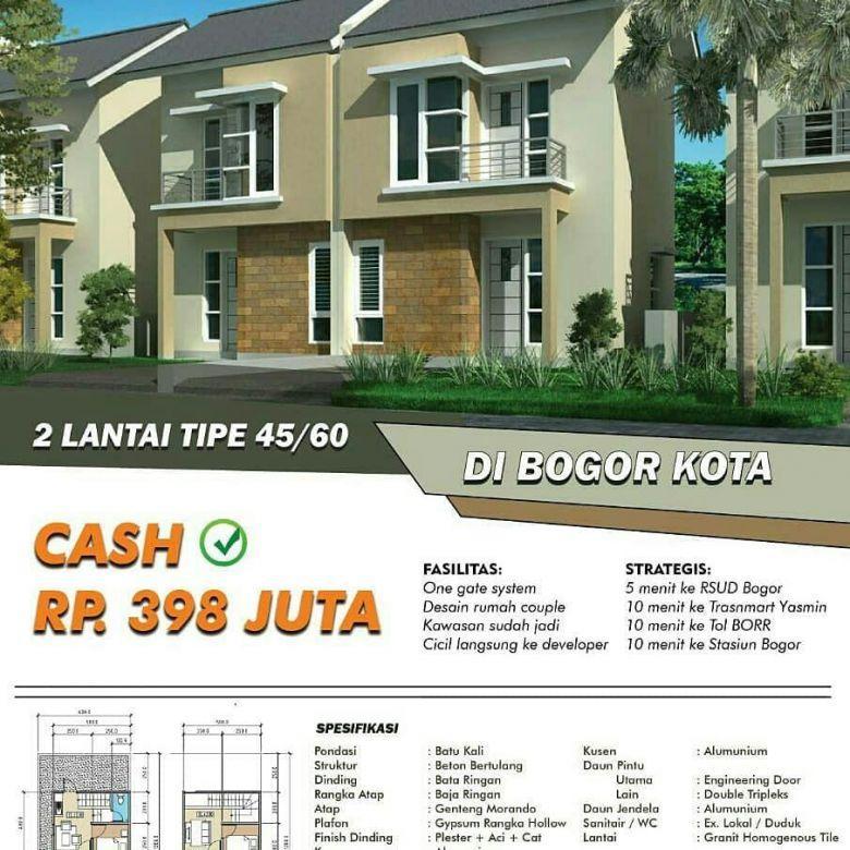 PALM HILL ABDI RESIDENCE BOGOR KOTA | PROMO RUMAH 2 LANTAI