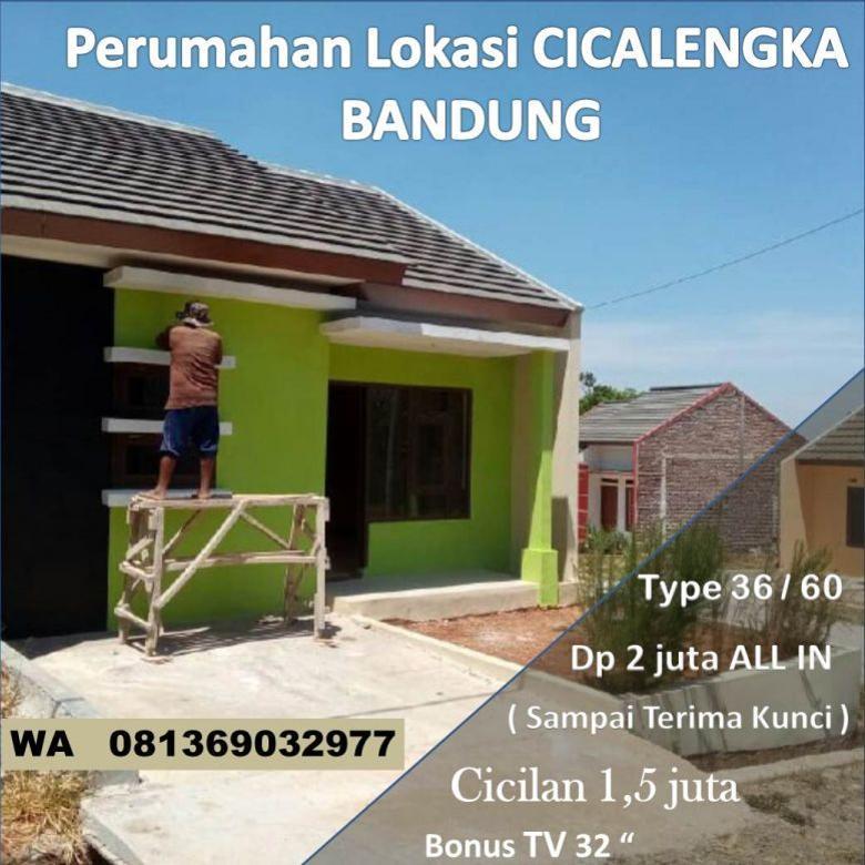 Dijual rumah cukup DP 2 juta lokasi Cicalengka